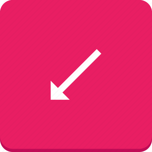 arrow, bottom, direction, left, material design icon