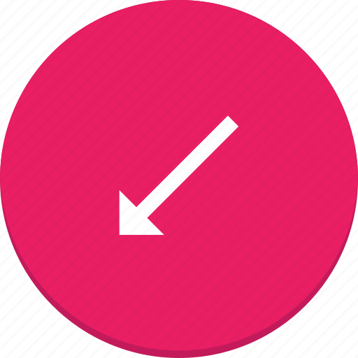 arrow, bottom, design, direction, left, material icon