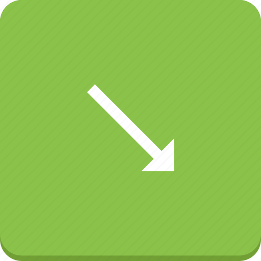 arrow, bottom, direction, material design, right icon