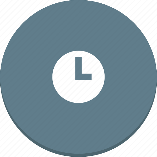 clock, design, event, material, schedule, time, watch icon