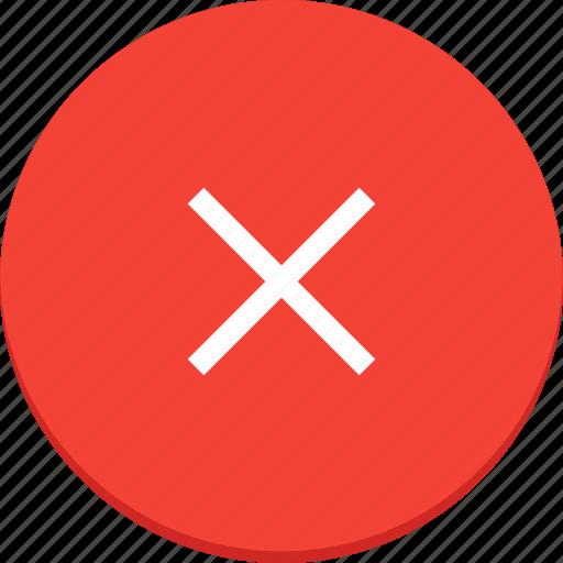 cross, delete, deny, design, material, remove icon