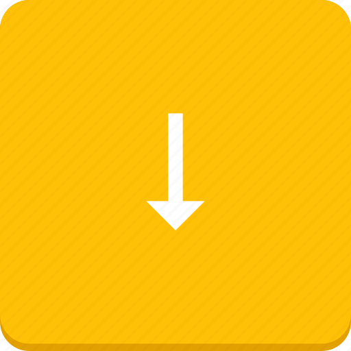 arrow, direction, down, material design icon