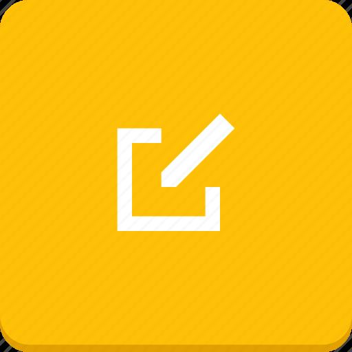action, edit, material design, modify, pen, text icon