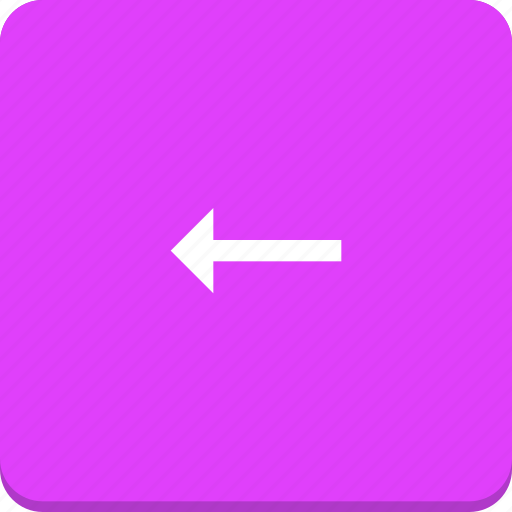 arrow, direction, left, material design icon