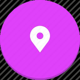 design, location, map, marker, material, pin icon