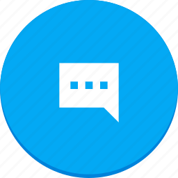 chat, communication, design, material, message, text icon
