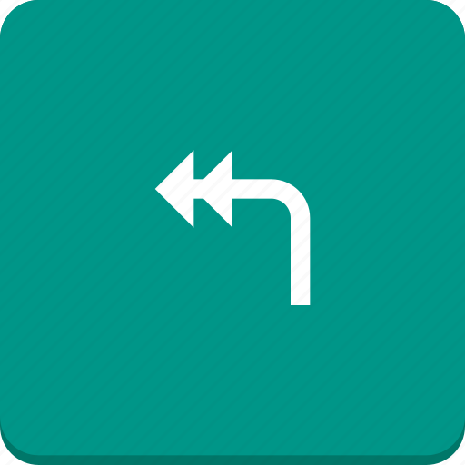 action, arrow, direction, material design, reply icon