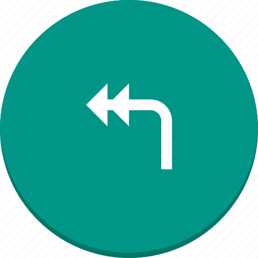 arrow, design, direction, left, material, reply icon