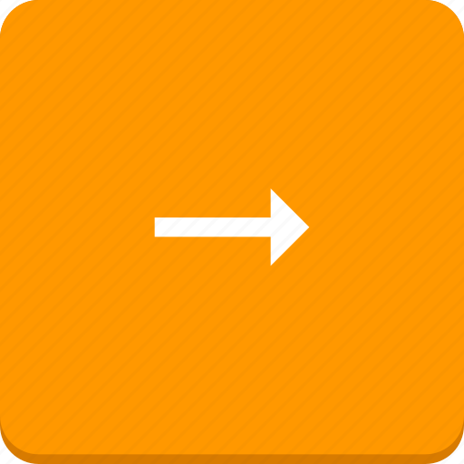 arrow, direction, material design, right icon