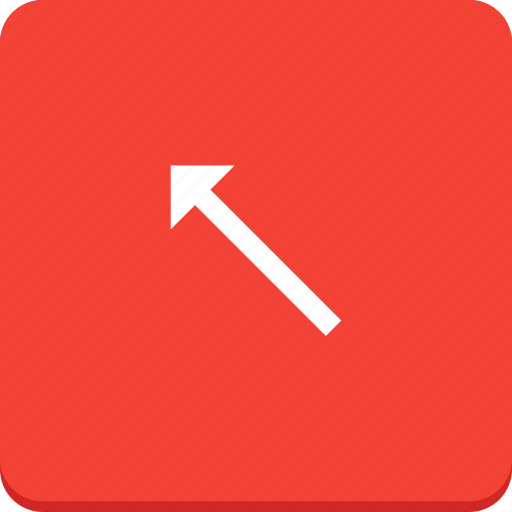 arrow, direction, left, material design, top icon