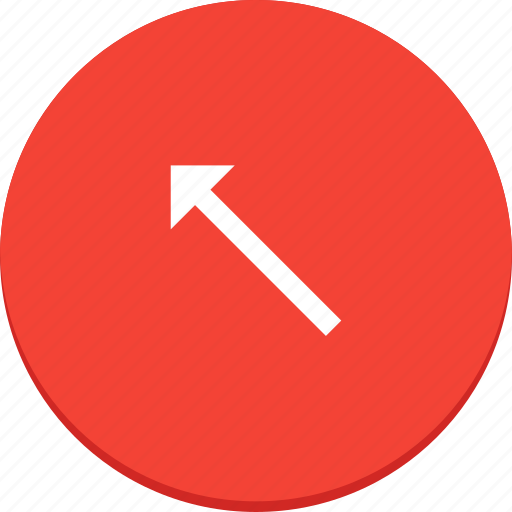 arrow, design, direction, left, material, top icon