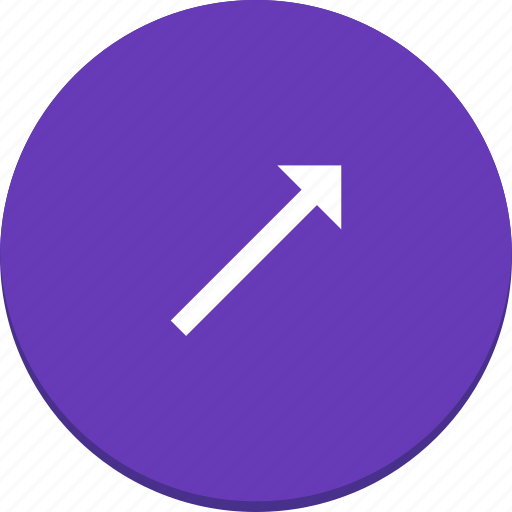 arrow, design, direction, material, right, top icon