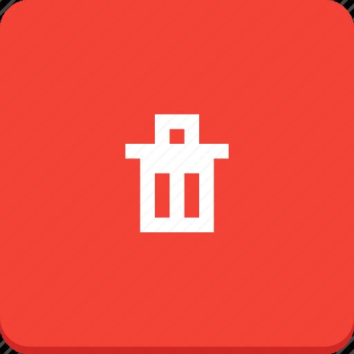 bin, delete, material design, recycle, remove, trash icon