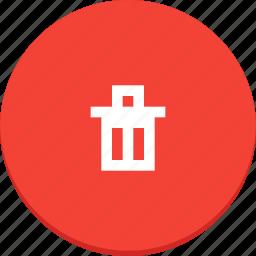 delete, design, material, recycle, remove, trash icon