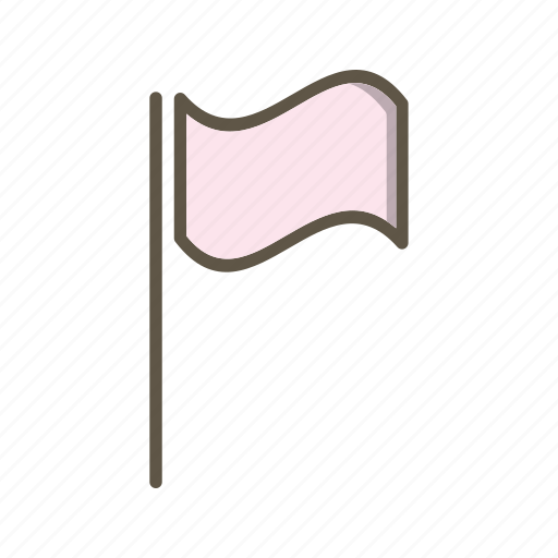 flag, location, pin icon