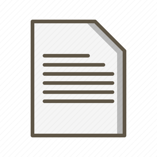 document, file, sheet icon