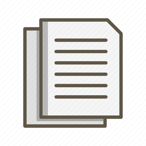documents, file, paper icon