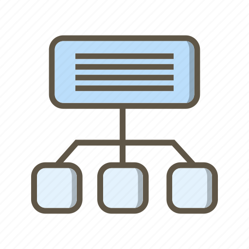 communication, network, sitemap icon