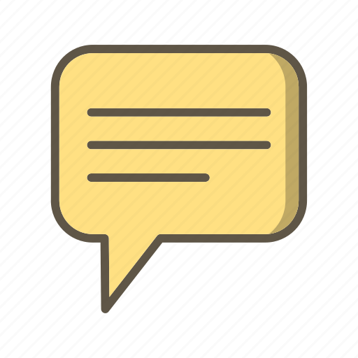 message, text, typing icon