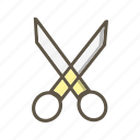 cutting, edit, scissor icon
