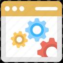 page optimization, web maintenance, web management, webpage setting, website development icon