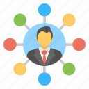 global connection, networking people, online links, social network, world wide network icon