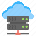 cloud data concept, cloud data platform, cloud server, cloud storage, online data storage icon