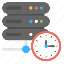 automatic running, data deadline, server automation, server clock, web hosting icon