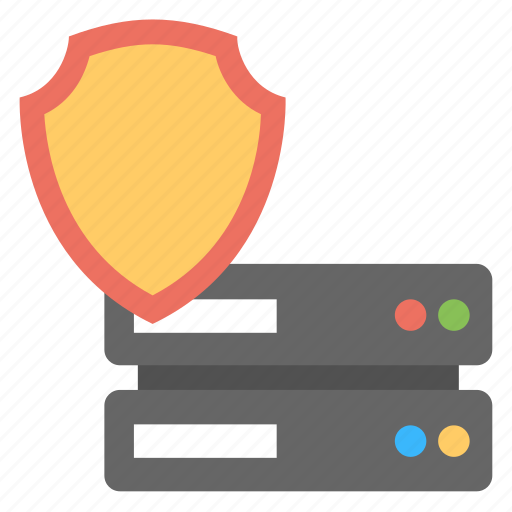 data security, network security, safe server, server protection, web security icon