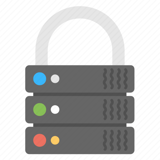 data security, network security, safe server, server security, web security icon
