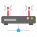 internet network, internet routing network, networking device, wifi connection, wireless technology icon