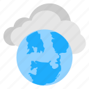 cloud computing, cloud technology, global net, internet connection, web cloud storage icon