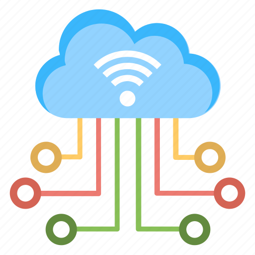 Cloud computing, cloud networking, hotspot database, wifi cloud connection, wireless network icon - Download on Iconfinder