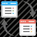 data exchange, data management, data transfer, file transmission, information processing icon