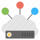 cloud connection, cloud hosting, cloud storage, communication, web hosting icon