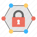 protected web access, safe packaging, secure connections, secure networking, service management icon
