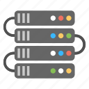 data center, web hosting, web hosting series, web server, web storage icon
