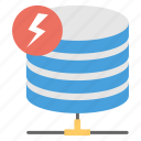 data hosting device, data networking, data server, power database, storage network icon