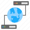 global connection, global data server, internet communication, internet connection, web hosting icon