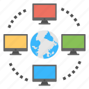 global connection, networking people, online links, web connection, world wide web icon
