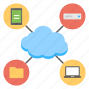 cloud computing, data storage, digital communication, internet hosting, web hosting icon
