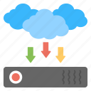 backup system concept, cloud data backup, cloud data storage, cloud server data, data backup icon