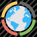 dns, global network, ip address, seo and development, web domain icon