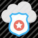 cloud data protection, cloud security, safe cloud computing, secure cloud storage, web data security icon