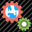 earth gear, earth inside gear, global development, global management, web strategies icon
