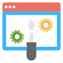 web development, website configuration, website control panel, website settings icon