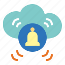 cloud, computing, data, downlond icon