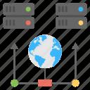 global network, data server, world networking technology, internet communication, web hosting icon