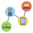 computer networking, internet technology, web hosting, wifi services, wireless connection icon