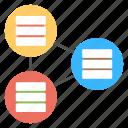 hosting devices, big data element, database relationship, sql server connection, network database icon